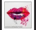 Abstraction lips. Постер на жесткой основе, в рамке покрытый лаком, цена 10 у.е. Размер 65х65 см. Суперкачество!