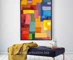 Abstraction, size 60x100 cm. 15$