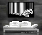Black and white Art, size 60x100 cm