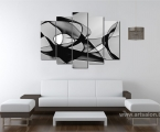 Black and white abstraction, size 90x125 cm. 30 $ (Можно картой Payme)