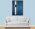 Blue abstraction, size 60x100 cm