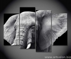 4 panels elephant, size 100x150 cm. цена 35 у.е.