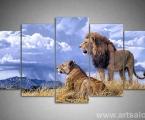 5 panels pattern Lions, size 100x190 cm. Цена 50 у.е. Наши модульные картины сделаны на панелях МДФ они легкие, объемные (толщина 2 см. по краям брусок, внутри модули полые и легкие) они крепкие и безопасные в отличии от картин на стекле (стекло тонкое, тяжелое, картины блестят и имеют дешевый вид, так же стекло это хрупкий и опасный материал) на стекле делают потому что это дешево и быстро (на кусок стекла просто клеют Китайскую самоклейку) наши модули делать сложно, нужны специалисты по мебельной работе и станки. Картины на орг стекле и акриле тоже имеют свои минусы, они мутнеют со временем и выделяют вредные вещества в теплое время. Даже самая качественная печать со временем выцветает, она становится бледной, а солнечный свет только ускорит этот процесс, поэтому наши картины покрываются защитным лаком, другие производители после печати делают ламинацию (эта пленка делает картину не резкой и не защищает от солнечного света) Наши картины и фото всегда яркие, резкие не боятся воды и долгие годы будут радовать вас. Из-за отсутствия блеска матовые картины выглядят более сдержанно и очень солидно. (Вот что пишет дизайнер из компании Apple, я больше предпочитаю матовые картины, глянец и стекло категорически не приемлю, мой выбор обусловлен тем, что глянцевые картины дают сильные блики и на них смотришь как в зеркало, где видно помещение и твое изображение, матовые картины можно смотреть независимо от того как и откуда свет падает на нее)