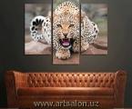 leopard. Размер 80х92 см.