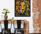 Abstract lion, dreadlocks, size 60x70 cm