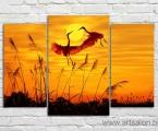 Dance birds. Размер центральной части 60х97 см. ширина всей картины 145 см. цена 35 у.е.