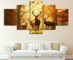 Deer in the autumn forest, size 100x150 cm