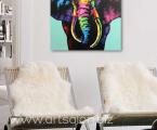 Print Elephant, drawing abstraction, size 60x60 cm. Цена 10 у.е. (Картину можно сделать красками на холсте)