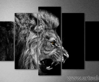 Evil lion, black and white. Размер 100х170 см. цена 35 у.е.