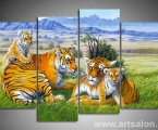 Family of tigers, size 100x130 cm. Цена 35 у.е.