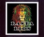 Lion Rasta_size 60х60 cm. Рамка натуральное дерево, покрытие черный лак, размер 50х50 см цена 15 у.е.