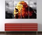Lion abstract. Цена зависит от размеров (укажите какая вам нужна длина картины)