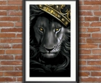 Lion and crown, any sizes, from A-4 to 60x100 cm