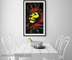 Lion with the Crown, any size, from A4 to 60x100 cm