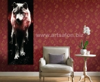 Long poster wolf, size 100x35 cm.