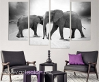 Modular panel of 4 pieces of elephants. Length 2 m. Цена 40 у.е.
