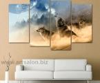 Painting wolves, fantasy, size 100h155 cm. цена 35 у.е. (размеры можно заказать меньше, цена ниже)