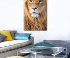 The lion's panel, size 60x100 cm.