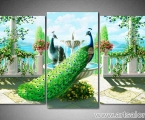 Triptych two peacocks, size 90x150 cm. Цена 30 у.е.