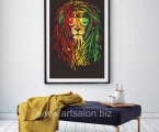 lion Rastaman, any sizes from A-4 to 60x100 cm