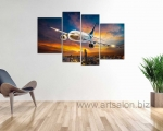 Airplane over the night city, size 100x170 cm. Цена 35 у.е.