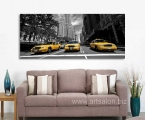 Taxi of New York, size 50x120 cm