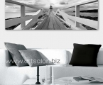 Black and white poster bridge, size 100x35 cm. Цена 20 у.е.