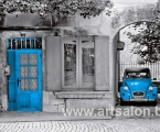 Home blue car