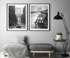 Poster frames, Brooklyn Bridge in winter, size 60x90 cm.
