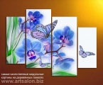Nikolaart sb1. Размер 98х135 см. Цветы и бабочки можно немного украсить мелкими стразами, для эффекта капель росы цена 40 у.е. (цена зависит от размера)