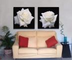 2-Roses. Размеры модулей могут быть разные, от 20х20 см до 60х60 см. Покрытие глянцевый или матовый лак, можно капли росы на цветах украсить мелкими стразами, немного. Суперкачество!