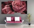 Art nouveau roses, size 100x185 cm. Цена 40 у.е. (картина украшена мелкими стразами, как капли воды) Модульные декоративные панели МДФ с фотопечатью. Наши картины легкие, объемные (толщина 2 см. по краям брусок, внутри модули полые и легкие.) они крепкие и безопасные в отличии от картин на стекле, которые блестят и имеют дешевый вид, так же стекло это хрупкий и опасный материал (на стекле делают потому что это быстро, отрезают кусок стекла и на заднюю сторону клеют Китайскую самоклейку) настоящие модули делать тяжело, нужны специалисты по мебельной работе и станки) картины на оргстекле и акриле тоже имеют свои минусы, они мутнеют со временем и выделяют вредные вещества в теплое время. Даже самая качественная печать со временем выцветает, она становится бледной, а солнечный свет только ускорит этот процесс. Как правило все призводители печатают на Китайской бумаге, потом делают ламинацию, это быстрый и дешевый способ покрыть печать (вся печать делается на водных чернилах, поэтому ламинация дает возможность иногда протирать картину. Все наши картины и фото покрываются защитным акриловым лаком, матовым или глянцевым при помощи специального распылителя которым лакируют автомобили или мебель, поэтому наши картины яркие резкие не боятся воды и долгие годы сохраняют свои цвета. Из-за отсутствия блеска матовые картины выглядят более сдержанно и очень солидно. Вот что пишет дизайнер из компании Apple. Я больше предпочитаю матовые картины, глянец категорически неприемлю, мой выбор обусловлен тем, что глянцевые картины бликуют при свете, и на них смотришь как в зеркало, где видно только твое изображение. Матовые картины можно смотреть независимо от того как и откуда свет падает на нее.