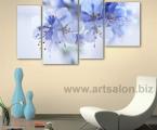 Blue flowers. Размер 82х125 см. Картину можно украсить мелкими стразами, немного, для эффекта капель росы. Цена 40 у.е.
