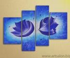 Blue flowers. ЦЕНА ЗАВИСИТ ОТ РАЗМЕРОВ, УКАЖИТЕ НАМ ШИРИНУ КАРТИНЫ