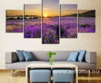 Modern-Wall-Pictures-Paintings-Lavender-Fields-Lavender