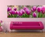 Purple tulips. Квадратные модули, размер каждой части 60х60 см. цветы можно украсить мелкими стразами для эффекта капель росы (по желанию) цена за комплект 35 у.е.