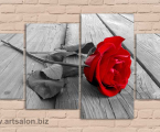 Rose Black1 Размер 80х130 см. цена 40 у.е. со стразами