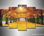 Autumn forest, the size of 100x160 cm