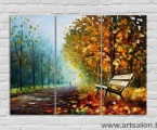Bright painting, size 100x135 cm