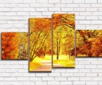 Golden autumn, the size 80x145 cm. 30 у.е.