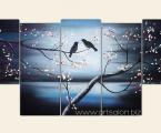 Sakura, birds. Размер 80х175 см. (картину можно немного украсить мелкими стразами, для блеска звезд и капель росы на цветках) цена 40 у.е.