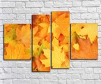 Yellow leaves, size 97x150 cm 30 у.е