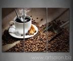 3 Piece Wall Hot Coffee