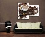 Coffee heart. Размер 90х120 см. цена 30 у.е. Кофейные зерна и сладости можно украсить мелкими стразами