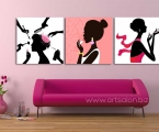 3 pangels for beauty salons, dimensions 60x60 cm