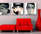 Art-posters-glamor-girl-,-the-size-of-each-60x60-cm. Цена за комплект 35 у.е.