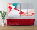 Manicure, 4 panels, size 80x160 cm
