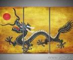 Триптих Дракон, размер 80х135 см