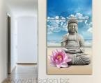 Buddha statue2. Размер 70х120 см цена 35 у.е. (картину можно украсить стразами)