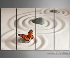 Butterfly and stones. Цена зависит от размеров, укажите только один размер по ширине или высоте